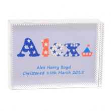 Star Letter Name Crystal - Personalised Gift For a Baby Boy or Christening Day